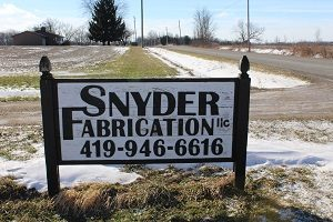 Snyder Fabrication LLC Location Signage Image